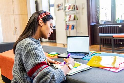 CollegeGirlonComputer